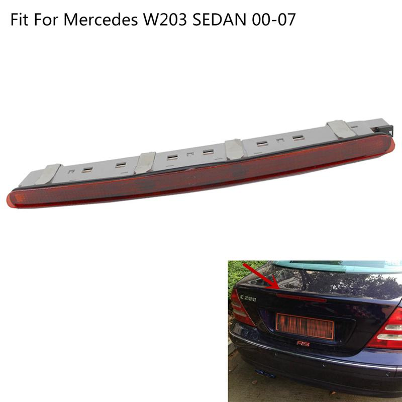 LED Tail Light LED Third Stop Tail Brake Light Red Saloon Rear Lamp for Merce-des Ben-z C-Class W203 2001-2007