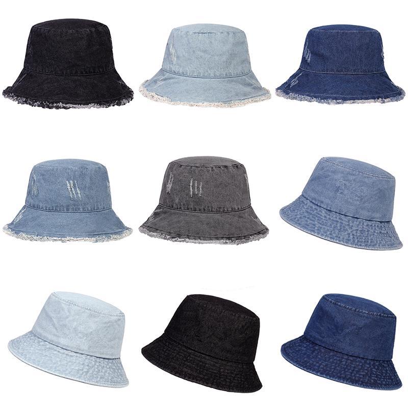 Панама шляпу мужчин складной рыбак крышка женщина промывают джинсовые шляпы ведро – купить по низким ценам в интернет-магазине Joom