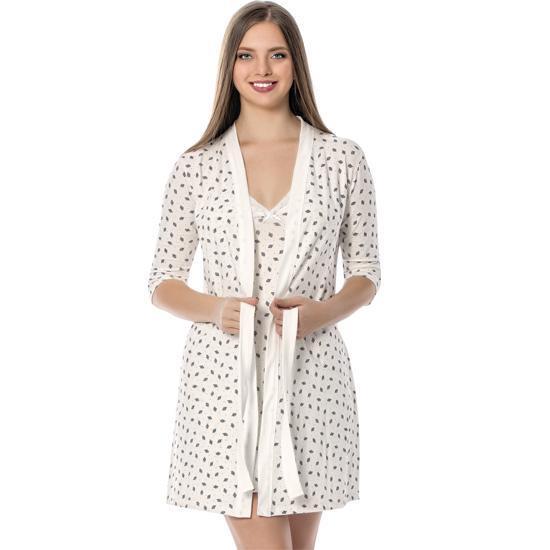 Akbeniz Women Ecru Nightgown Халат Костюм 1101 – купить по низким ценам в интернет-магазине Joom
