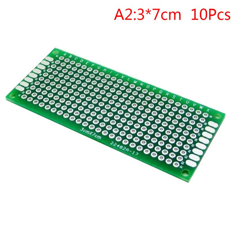 10PCS 20mmx80mm Double Side Prototype PCB Tinned Universal Breadboard FR4 2x8cm