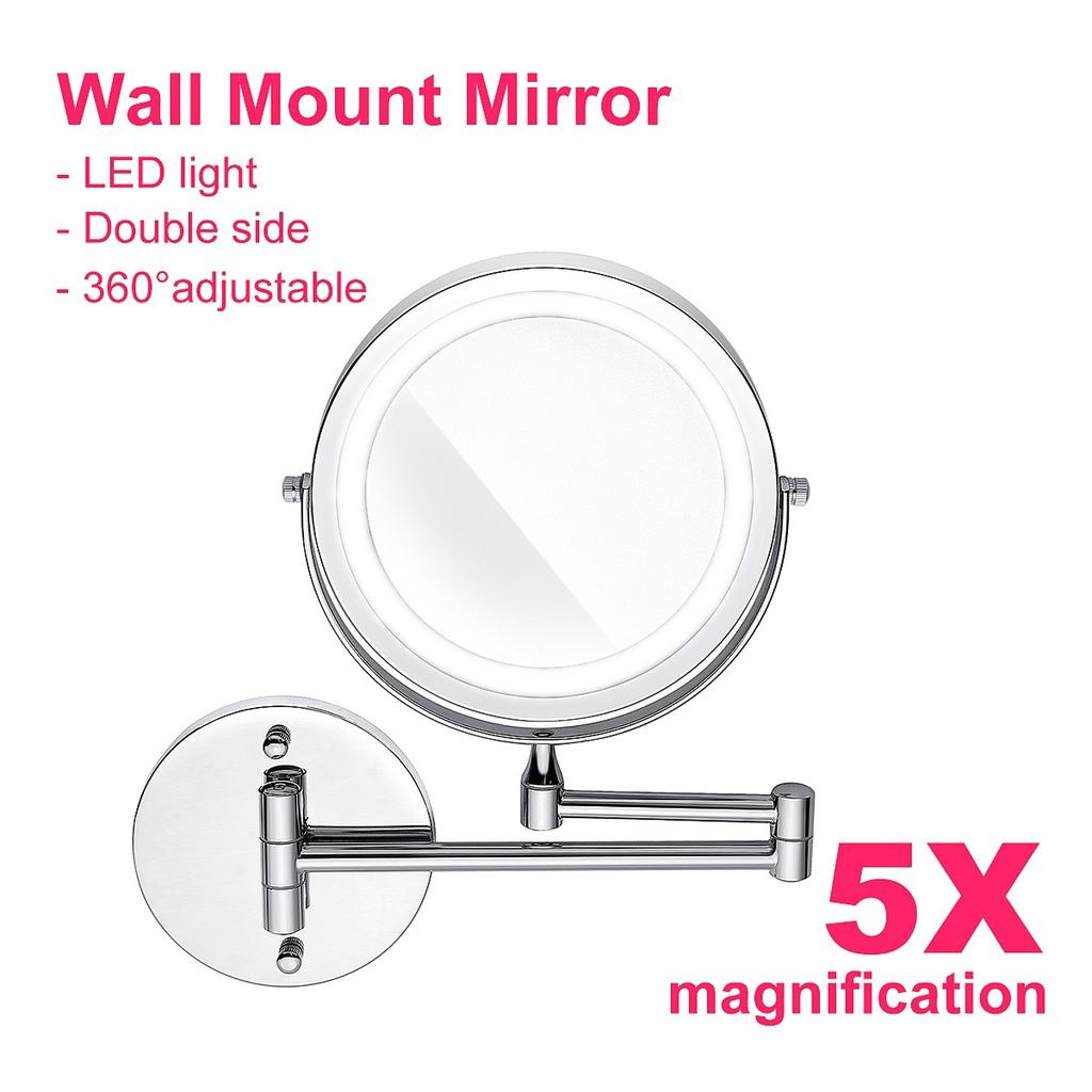 Led Makeup Mirror Withled Light Folding Wall Mount Vanity Mirror 7 5x Wall Mirror Magnifying Mirror Buy At A Low Prices On Joom E Commerce Platform