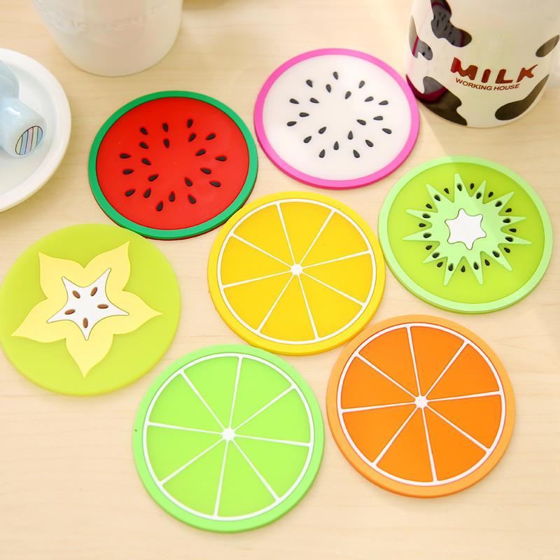 Фрукты Coaster красочных силиконовые чай Кубок напитки держатель мат – купить по низким ценам в интернет-магазине Joom