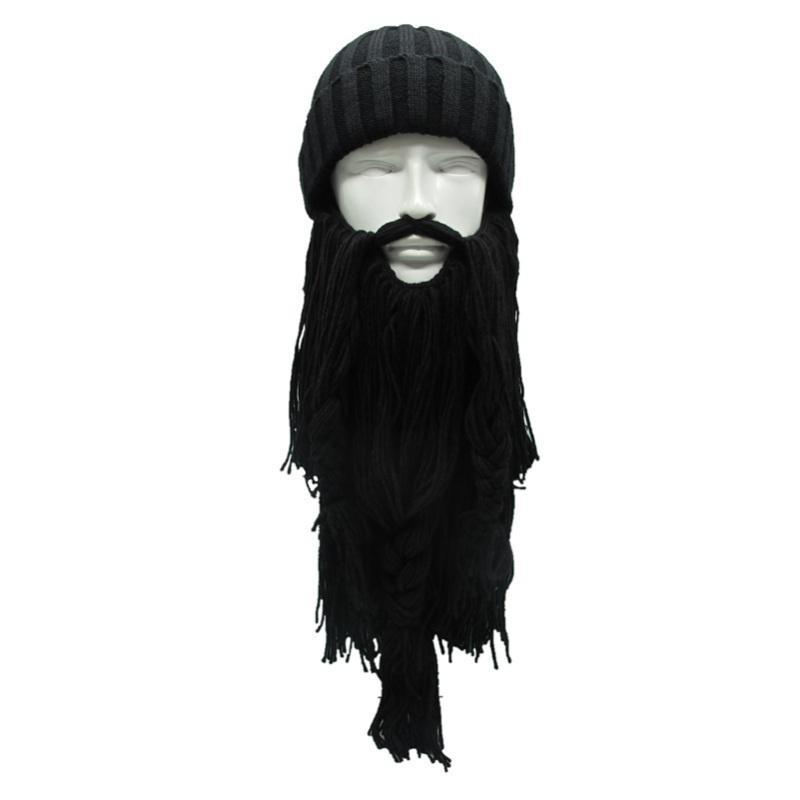 Hombres bárbaros Viking vagabundo barba cuerno sombreros hecho a ...