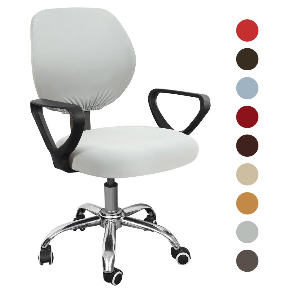 Split Office Chair Covers Stretch 1-6PCS Universal Rotating Slipcover Seat Cover