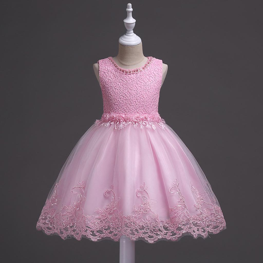 Verano moda vestido fiesta moda infantil niñas vestido sin mangas de ...