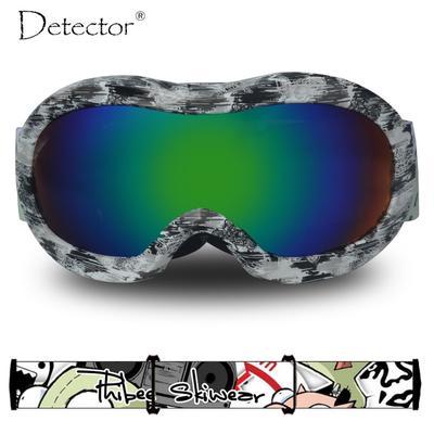 0b31daa739 Detector de niños esquí gafas niños protección Snowboard UV400 anti-empaños  doble niñas gafas invierno