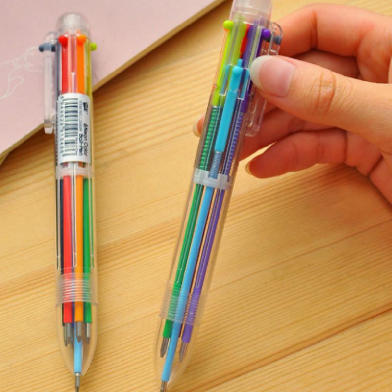 Ballpoint Plastic Bamboo Pen Black Ink 0.38mm Novelty Stationery Pack of 10