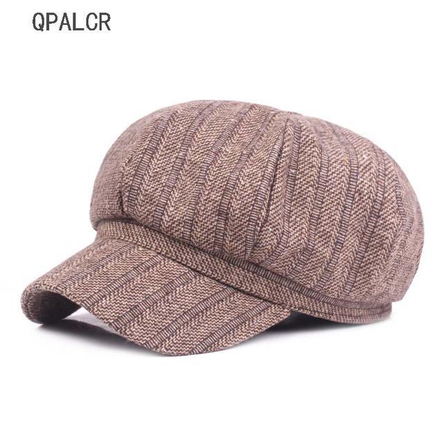 37581cf6b3ab8 Moda inverno boinas chapéus para Caps octogonal Unisex juventude literária  pintor chapéu feminino retrô mulheres