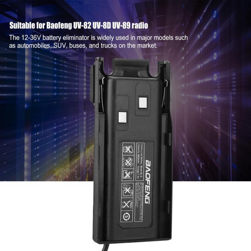 UV-82 Car Battery Eliminator For Baofeng UV82 UV-82L UV-8D UV-89 UV-82HP ND