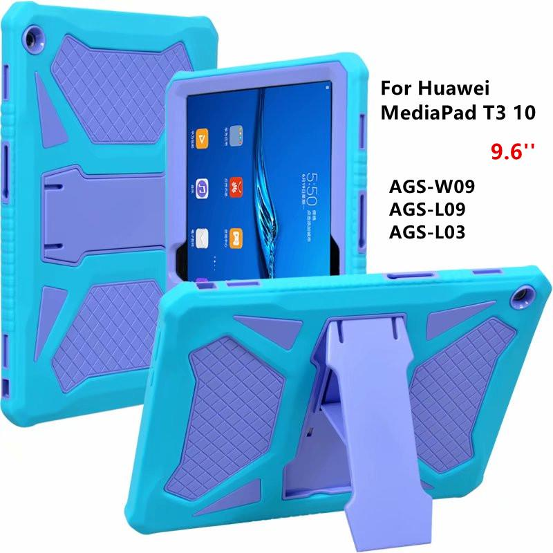 Rugged Shockproof Case For Huawei MediaPad T3 10 9.6 Inch AGS-W09/L09/L03 Stand Tablet Cover