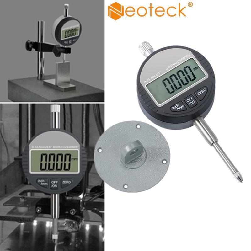 0.01mm Range 0-25.4mm Digital Dial Test Indicator Precision Gauge Waterproof