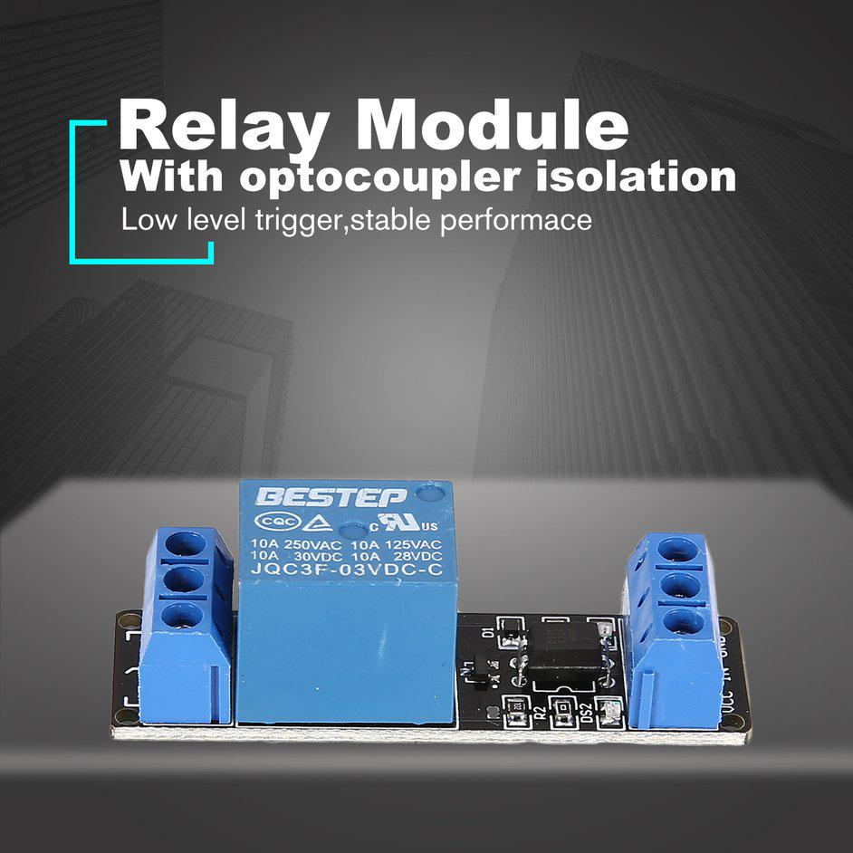 3V 2 Way Relay Module Interface Board Low Level Trigger Optocoupler Arduino