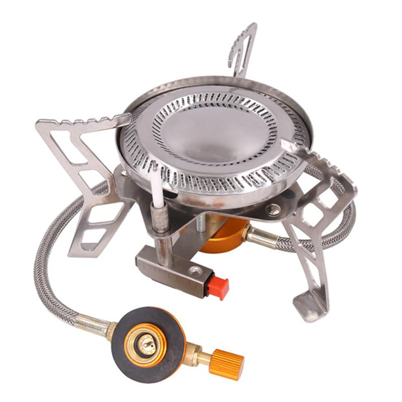 Portable Burner Camping Stove Wind Resistant Piezo Ignition 3500W Backpacking