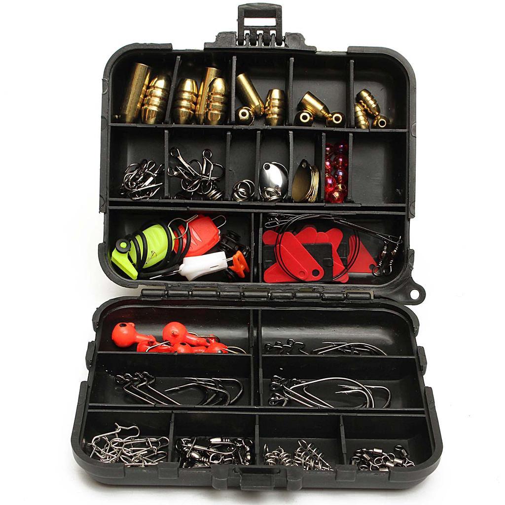 855B D59D Tackle Box Fishing Accessories Set Portable Angling Sea Fishing Hook
