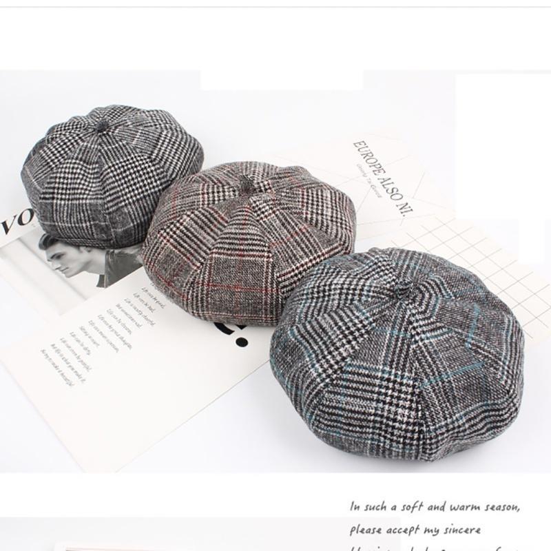 Tapa caliente vendedor de periódicos boina otoño invierno sombreros ...