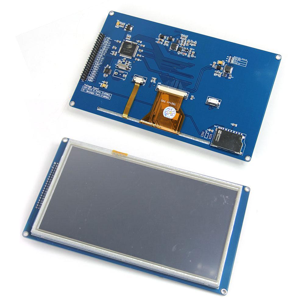 Neue 7 zoll Tft Lcd Modul 800x480 Ssd1963 Touch Pwm Für Arduino Avr Stm32 Arm 800*480 800 480 Digital Control Board Optoelektronische Displays