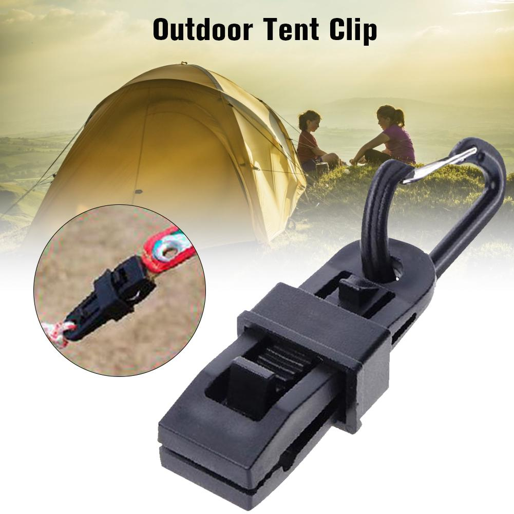 10pcs Fixed Plastic Clip For Outdoor Tent For Camping Travel