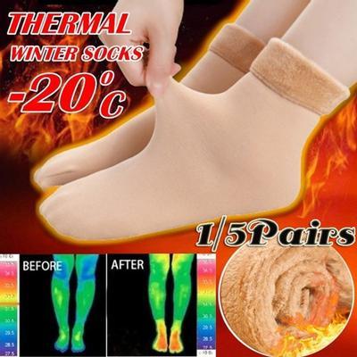 1 Pair Winter Warmer Socks Thicken Thermal Wool Cashmere Snow Socks Seamless Velvet Boots Floor Sleeping Socks for Men Women