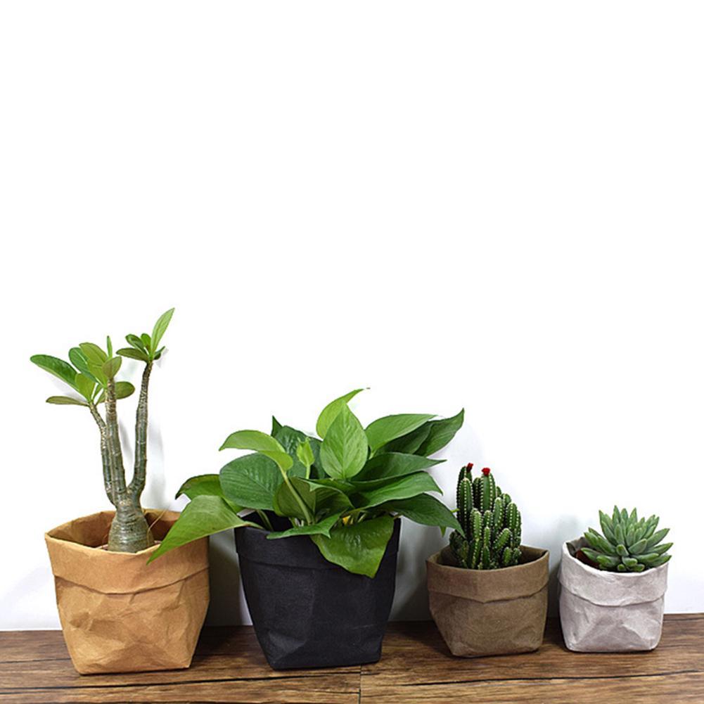 Lavable succulents pots Kraft Sac Papier Plante Fleurs Home Réutilisable 4 Couleurs