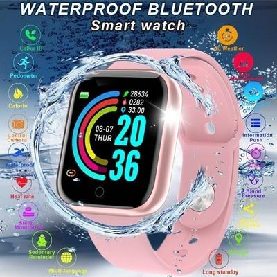 A smartwatch with a 0.96 inch screen, IP67 water protection and a pulsometer