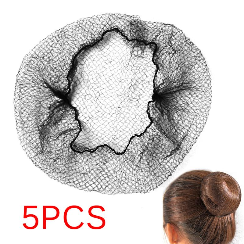 5PCs Women Ballet Dance Skating Snoods Hair Net Bun Cover Black ... f4425cad3401