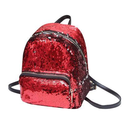 de mochila lentejuelas mujer mochila cuero niña hombro Bolso Trave Rdqx6wPARz