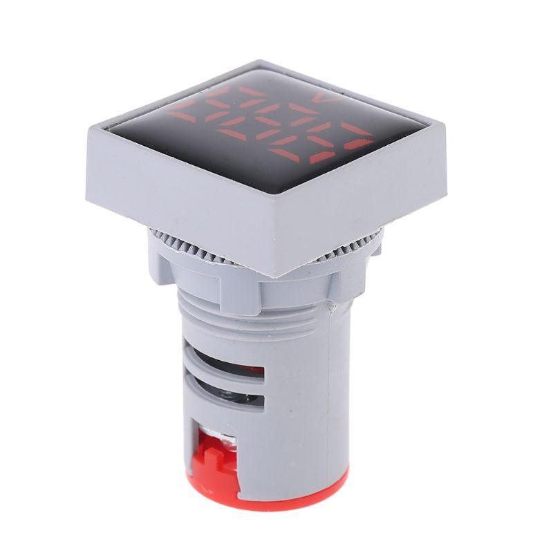 22mm Квадратный Вольтметр AC 20-500V Индикатор напряжения светодиодный Вольт Панель Метр – купить по низким ценам в интернет-магазине Joom