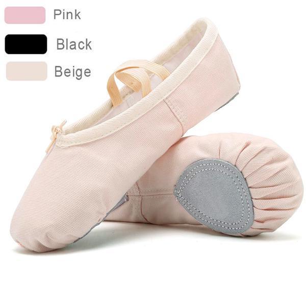 Kids Girl Soft Ballet Dance Shoes Gymnastics Practice Embroidery Ballet Shoes
