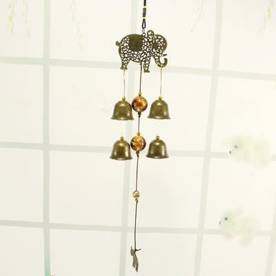Outdoor Hanging Wind Chimes Chinese Style Window Door Metal Windbells Decor 1pc