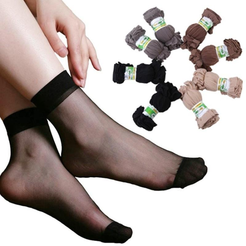 10pairs /lot женщин летние тонкие прозрачные носки