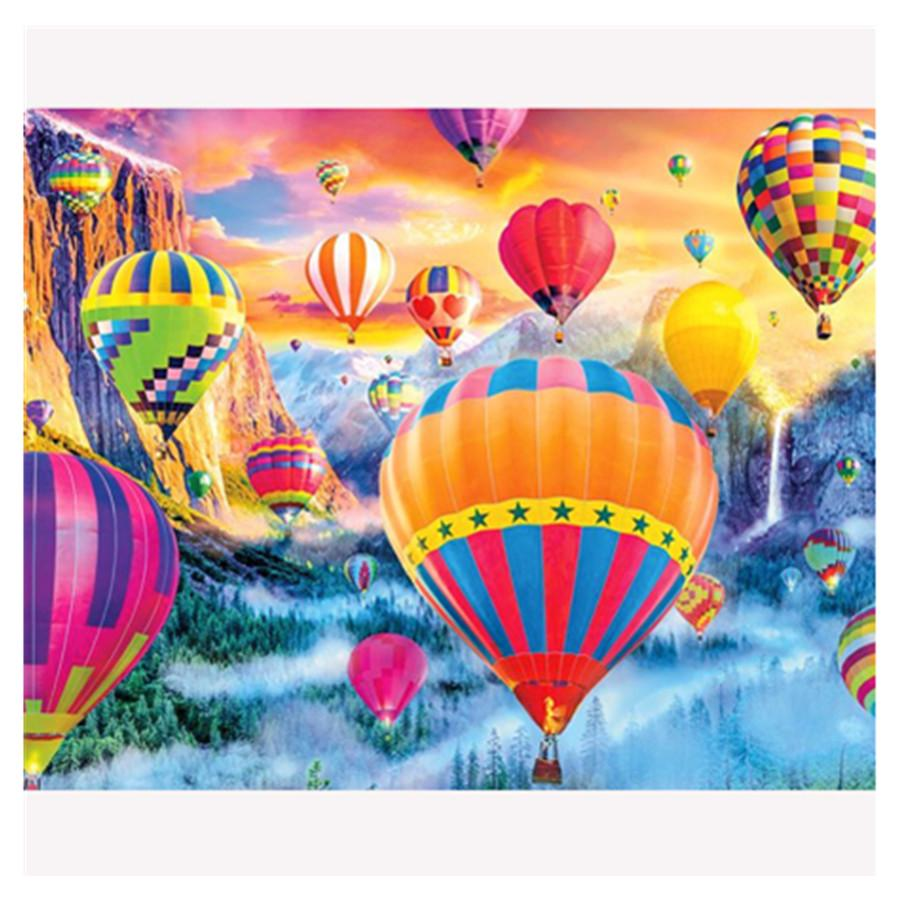 30X40 TOPOB Hot Air Balloon Pictures DIY 5D Diamond Embroidery Painting Cross Stitch Craft Home Decor