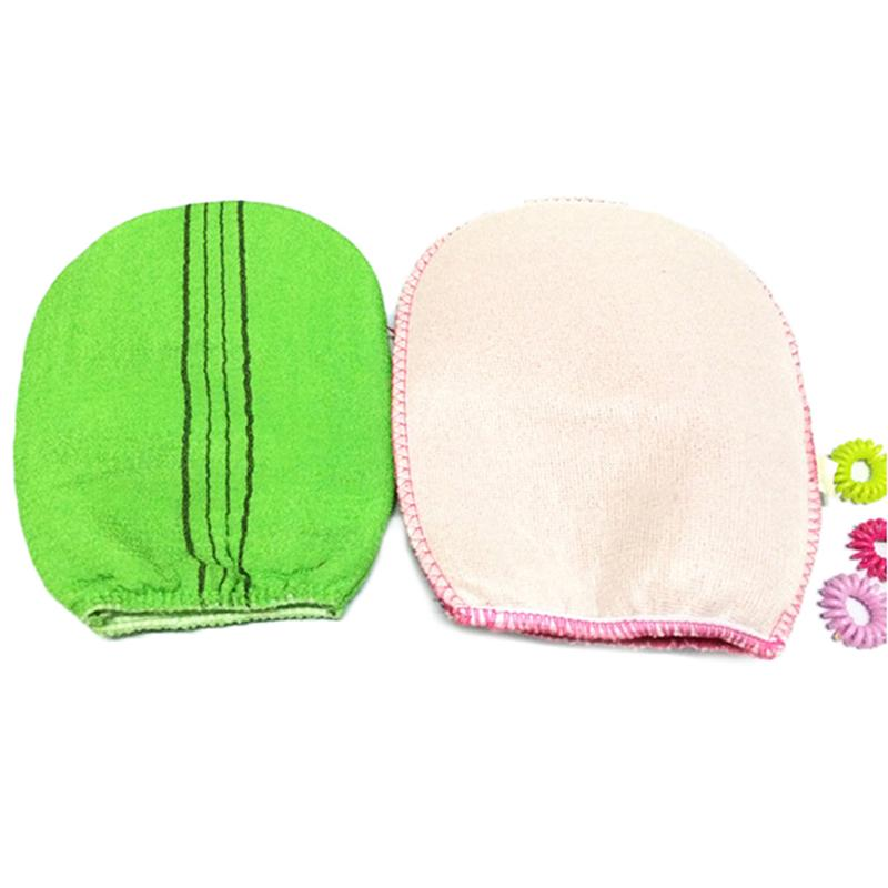 2 colors Korean Italy Exfoliating Body-Scrub Glove Towel Green Red S.US