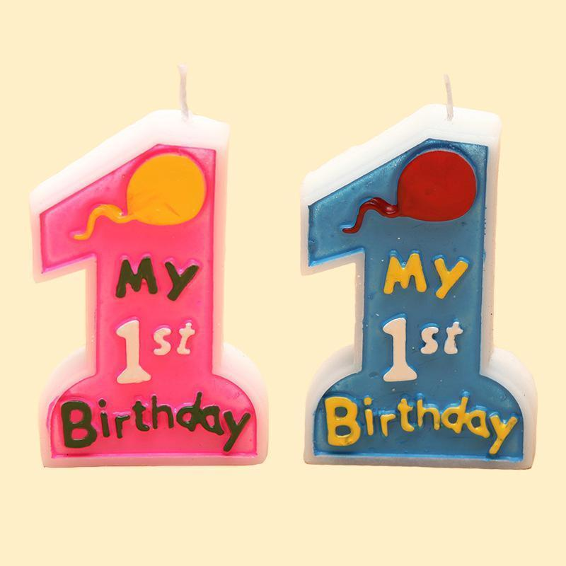 Cake Candle Kids Children My 1st Birthday Baby First Anniversary Party Decor