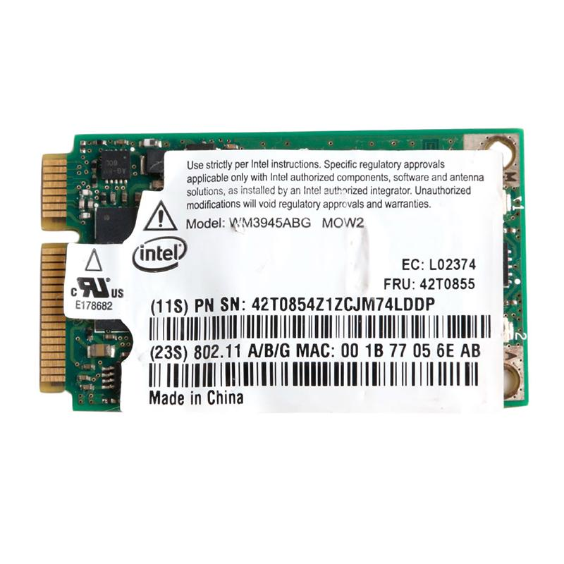Tablet-intel Wm3945abg Wireless Wifi Card 42t0853 For Ibm Thinkpad T60 T61 R61 Z61 X60 Networking
