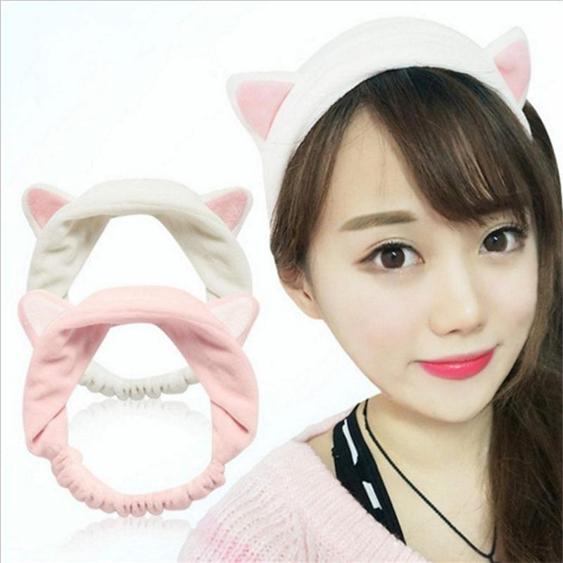 Beauty & Health 1pc Fashion Cute Lady Girl Elastic Grail Cat Ears Hair Braiders For Washing Face Headdress Women Hair Accessories Party Hair Care & Styling