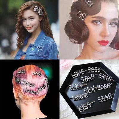Women Girls Crystal Slide Snap Hair Clips Barrette Grips Hairpin Headwear Gifts