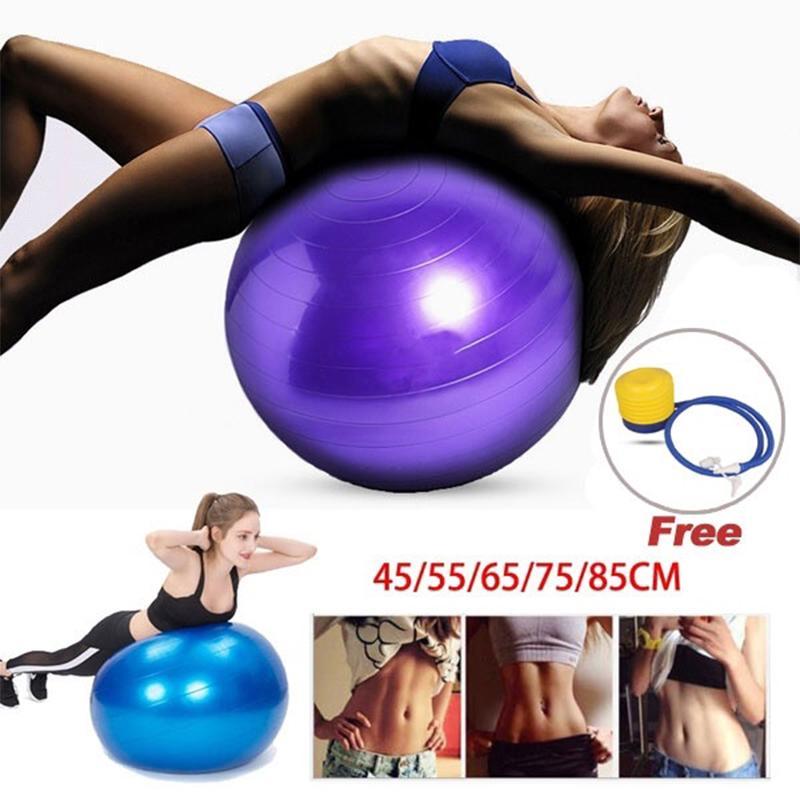 45//55//65//75cm Yoga Gym Fitness Ball Aerobic Abdominal Exercise Pilates Balance