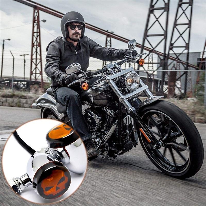 2 piezas galvanizado cabeza moto esqueleto modificación lámparas de ...