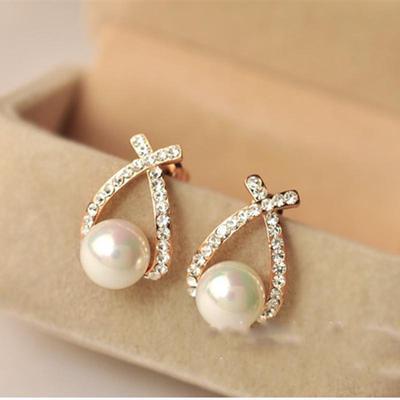Korean Type Earrings Alloy Geometric Elements Round Earrings Gift Alloy 0504