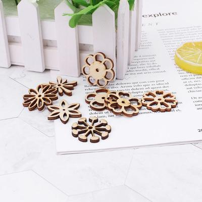 50 PCS Lot Artcuts Mini Mixed Wooden Stars Embellishments For Craft Decor-D C0X9