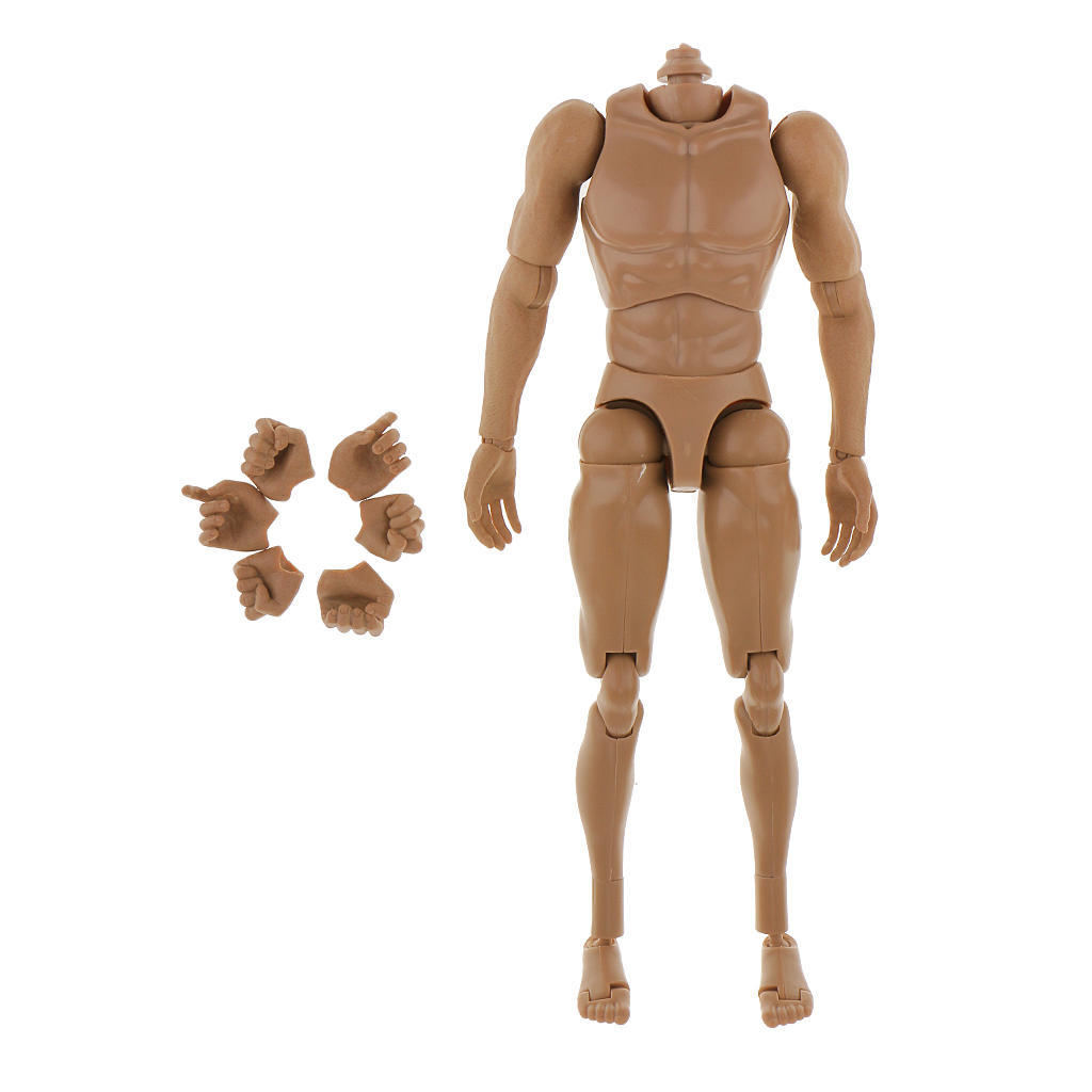 """1:6 Male Action Figure Body No Neck Toys For 12/"""" Hot Toys Head Sculpt"""