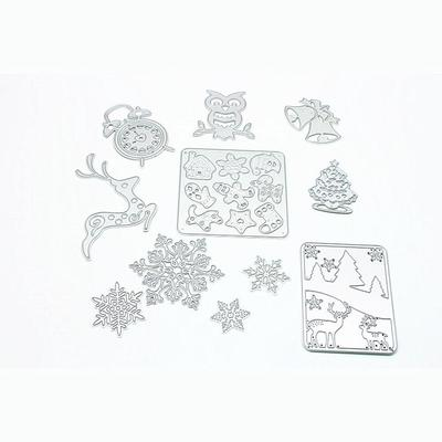 NO.2 Text Metal Cutting Dies and Stamps for Scrapbooking Decorative DIY Crafts E