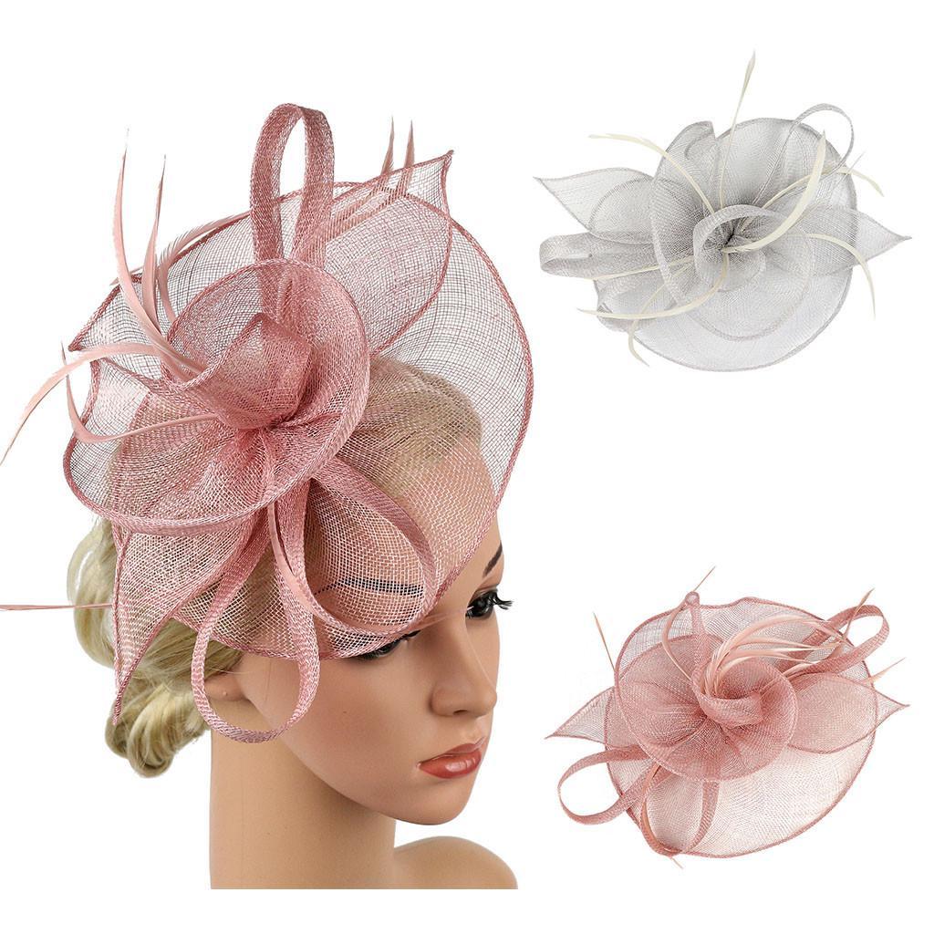 (МГ) Я не хе Женский Fascinator Шляпа Имитация Sinamay Перо Чаепитие Pillbox Цветочное дерби – купить по низким ценам в интернет-магазине Joom