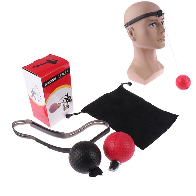 2x Boxing Training Fight Ball Reflex Speed Reaction Punch Combat Muscle Exercis