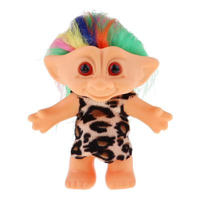Delicate Lucky Troll Doll Mini Action Figures Toy Cake Decoration Rose Red