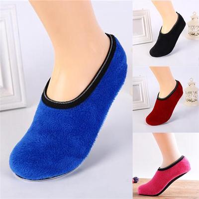 Adult Children Plus Velvet Warm Home Socks Parent-child Early Education Non-slip Floor Socks