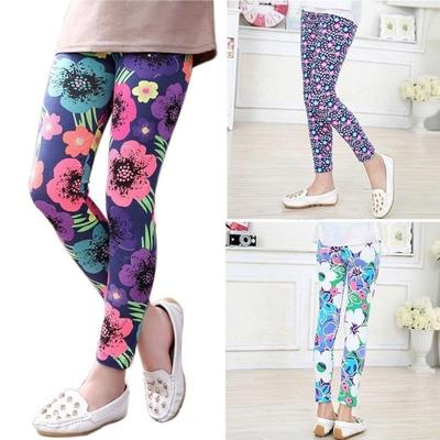 Style 4 Cute Girls Colorful Skinny Leggings Casual Kids Stretchy Pants Trousers 2-14Y 5-6 Y