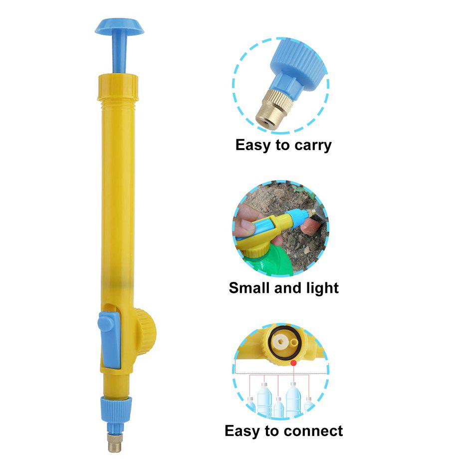 Mini Juice Bottles Interface Plastic Trolley Gun Sprayer Head Water Pressure ND