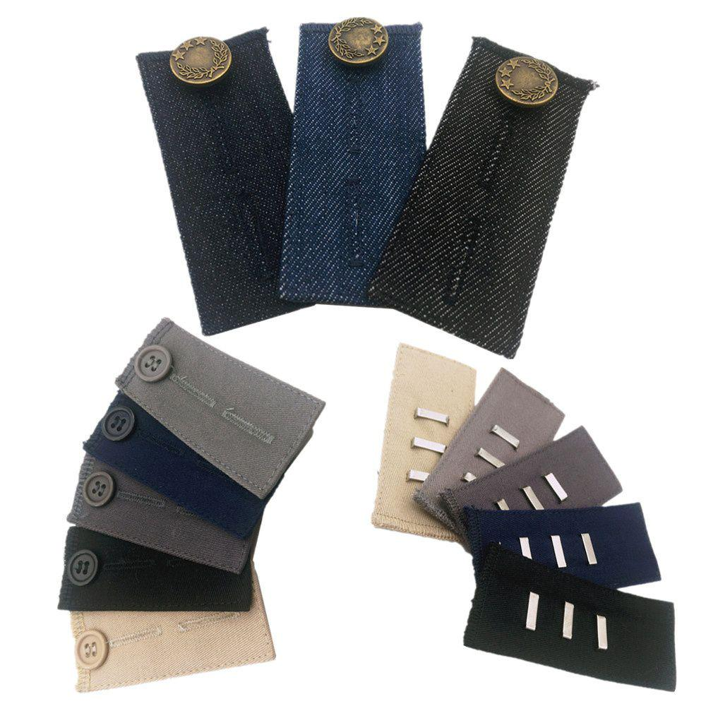 11PCS Collar Extender /& Denim Jeans Waistband Extender Metal Button Trousers