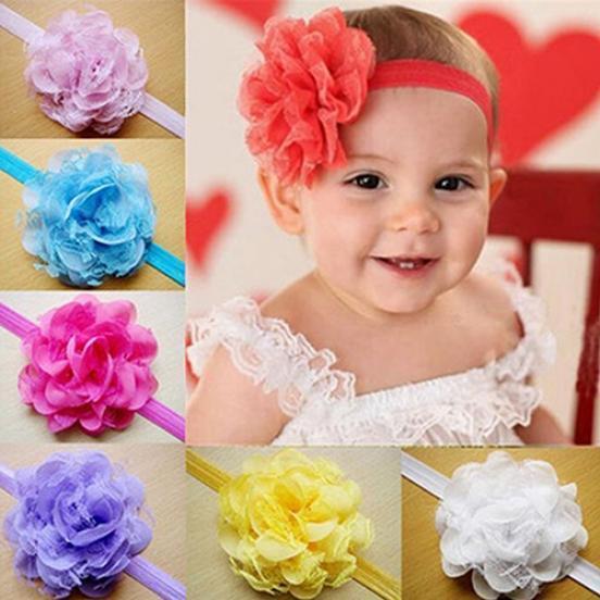 欧美儿童发带 手工雪纺头花 宝宝头带 婴儿发饰 弹力发带
